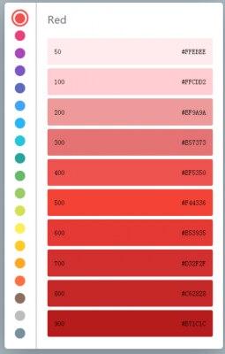 简洁的颜色代码表网站源码